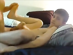 Twink sex in amateur video by skinny best friends