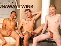 Two young gay friends are hotly fucking one twink