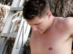 Young gay boyfriends are pleasuring passionate fuck outdoors