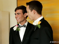 Sexy cute twinks are hotly fucking before getting married