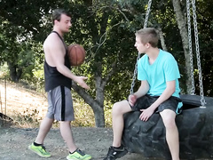 Teen twinks got horny while playing basketball