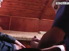 Twink with tons of cash and camera seduces two handsome guy to fuck