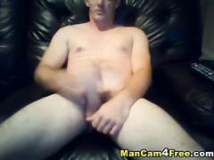 White smooth skinned twink is pleasuring hot dick masturbation