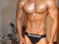Twink poses sexy in black panties before showing dick