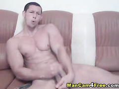 Handsome sexy twink fucks hot with dildo