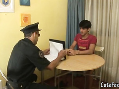 Horny policeman has seduced an innocent boy