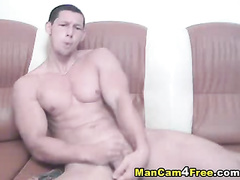 Sexy gay brags his exciting tight round butt