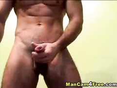 Rocky strong twink hotly poses nude to the webcam