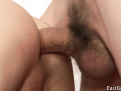 Big cock slides in young mouth and ass