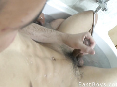 Latin boy shoots a portion of sticky semen